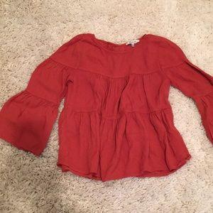 Rusty orange/red madewell blouse